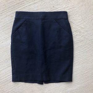 J. Crew• The Pencil Skirt Dark Blue